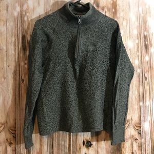 Men's North Face gray long sleeve fleece SZ L EUC